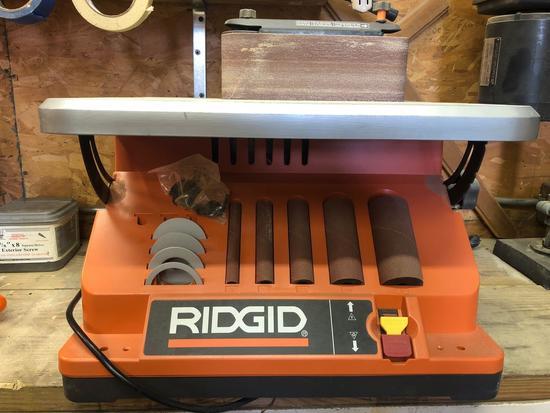 Ridgid EB44242 Oscillating Table Top Spindle Sander