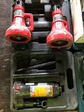 Lot of 6 Ton Bottle Jack and a Pair of 5 Ton Support Jacks