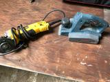 Lot of 1 Bosch Portable Planer and 1 Dewalt Grinder