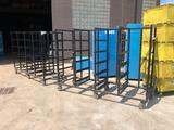 Lot of 2 Towable and Attachable Steel Dry Racks