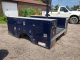 Brandex 8 ft Fiberglass Utility Bed. Very good shape. Tread Plate Tops