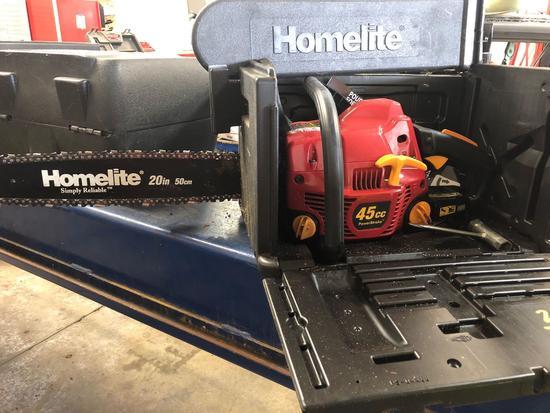 Homelite 20 in 45cc PowerStroke chain saw
