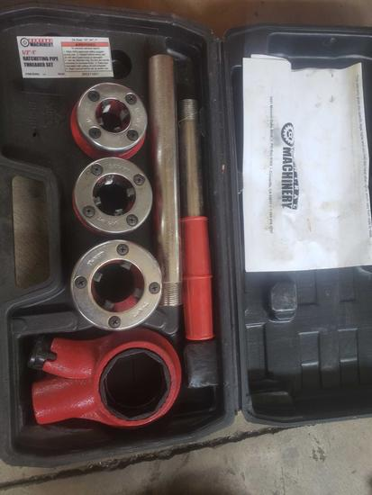 Central machinery 1/2 inch ratcheting pipe threader set