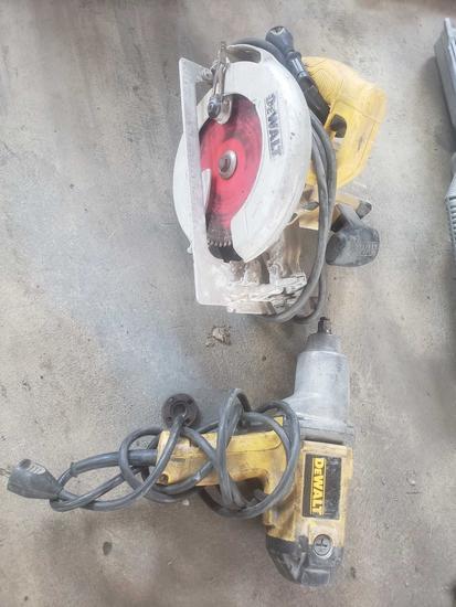 Dewalt 1/2 inch impact and 7 1/4 inch circular saw