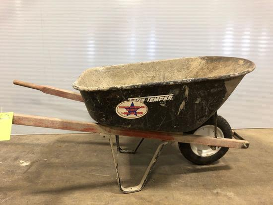 True Temper Rubber Tired Wheel Barrow