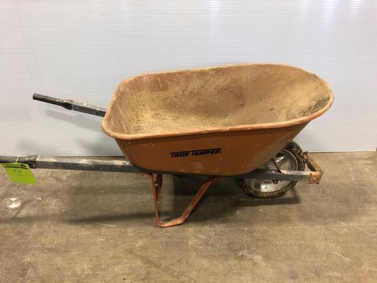 True Temper Rubber Tired Wheel Barrow
