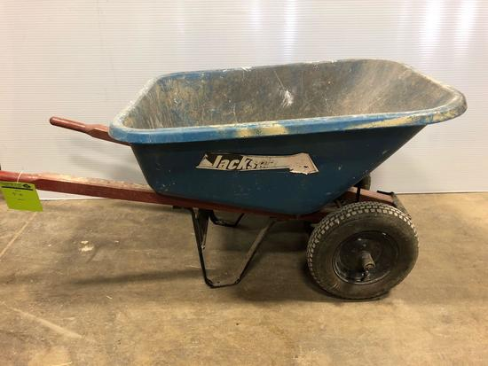 Jackson Rubber Tired Dual Wheel Wheel Barrow