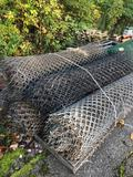 Pallet of 5 rolls of standard chain link fence