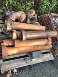 Assorted pallet of Vintage Clay Drainage Pipe