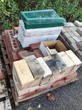 Assorted pallet of bricks and Drain Channel
