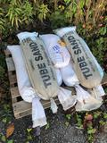 Pallet load of assorted sand bags/tubes