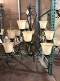 New Carriage House Lighting 42wx38h Chandelier