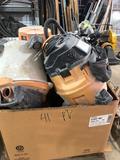 Crate load of Assorted Shop Vacs & Parts