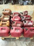 Group Lot of 12 Plastic Fuel Cans