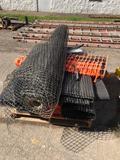 Pallet load of plastic fencing