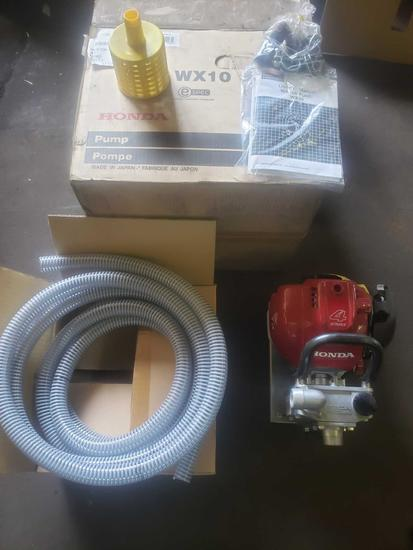 Brand new Honda wx10 4 stroke water pump