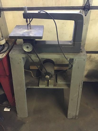 Sears Roebuck Scroll Saw on homemade stand. Working condition