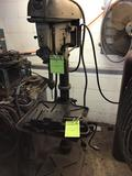 Delta Rockwell drill press with 230/460 3 phase motor in working condition