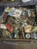 5 drawers full of hardware, sandpaper and tools see pics