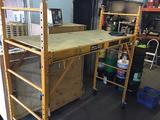 Haul-Master 900 pound rolling scaffold with walkplank and casters