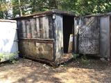 3 storage sheds (retired semi trailer boxes)on skids. Likely scrap. Selling as one money.