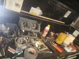 Full lot of various tools, tape, glasses, pliers and more