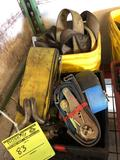 2 crates of assorted ratchet straps