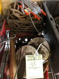 2 crates of assorted rope and cord reels