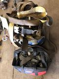 Lot of 2 Crates of assorted ratchet straps