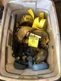 Large tote load of assorted ratchet straps of all kinds