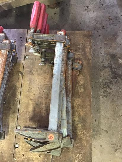 Lot of 6- 12 inch bar clamps, sells times the money
