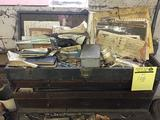 Vintage toolbox by H Gerstner and sons with contents of drill bits and machinist items