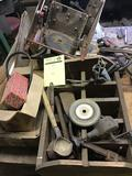 Pile of vintage tools, fasteners and more