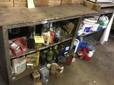 Undercounter clean-out, misc fluids, fasteners and more, includes the old microwave