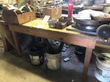 Vintage All Wood Work Table