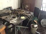 Metal Welding bench, and corner cleanout, includes a lot of air hoses