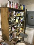 Wooden shelf clean off, lubricants, sandpaper, and more