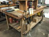 Handmade wooden work bench w/ Milwaukee Router & Table