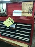 Craftsman Toolbox loaded with end mills, bid, blades, Tooling