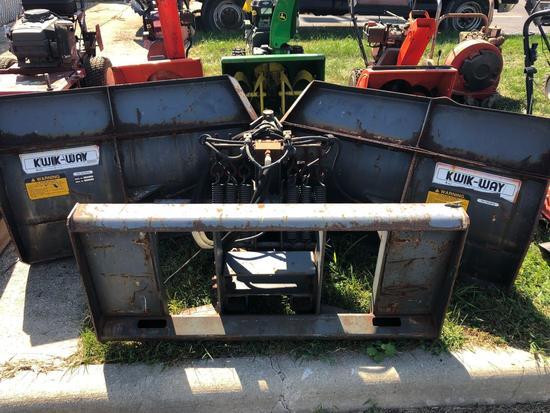 Kwik-way 3 way Plow Bucket Attachment #35-20503