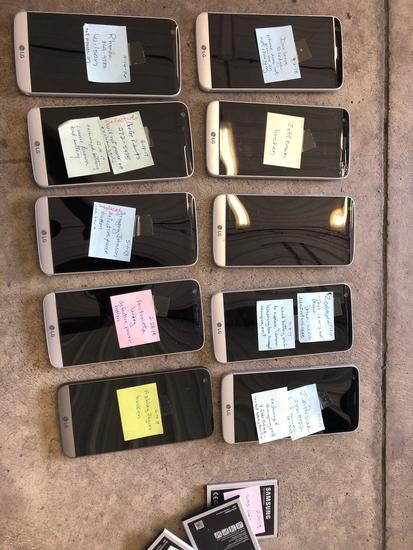 Lot of 10 Samsung G5 Smart Phones.