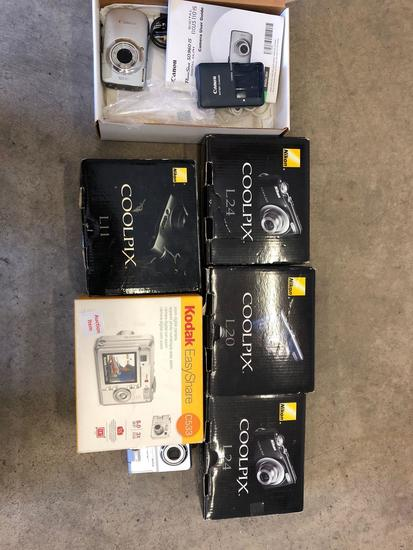 Lot of (7) Assorted Digital Cameras