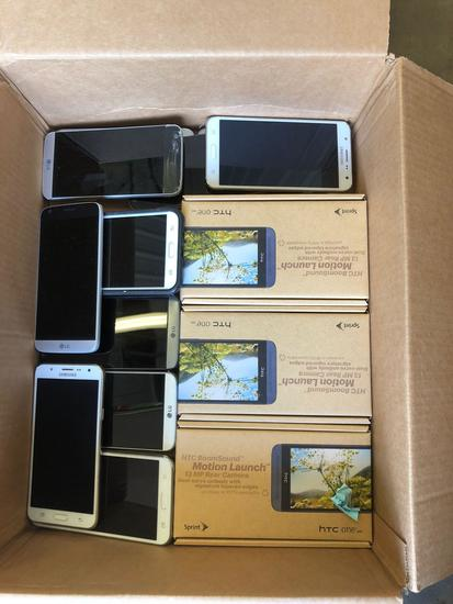 Lot of (14) Various LG & Samsung Smart Phones
