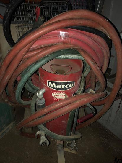 Marco blast and purge machine with extra hoses