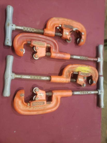 (4) Ridgid Pipe Cutters.