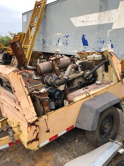 Ingersoll-Rand 4 cyl Diesel Air Compressor w/John Deere Diesel Motor