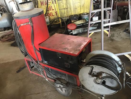 Hotsy 980B steam washer machine, Diesel heated, 220 volt