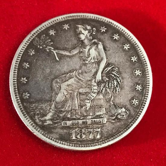 1877 S Trade Dollar, 420 grains of .900 silver