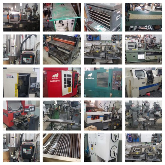CNC Machinery, Injection Molding Equipment & More!