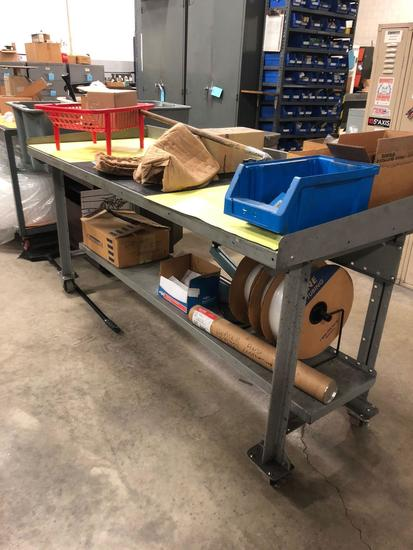 Metal Shipping Cart/Work Table.